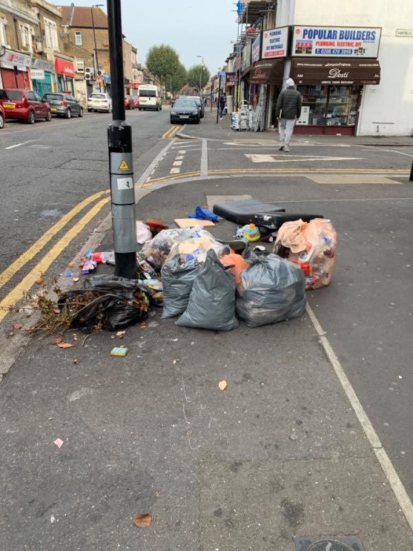 Bags of rubbish -80 Katherine Rd, London E6 1EN, UK