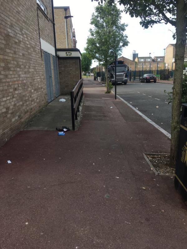 Whole street covered in litter-22 Buckingham Road, London, E15 1SP