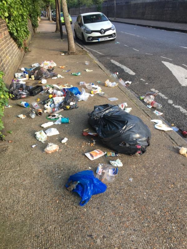 Domestic waste again -150 Hampton Road, London, E7 0NT