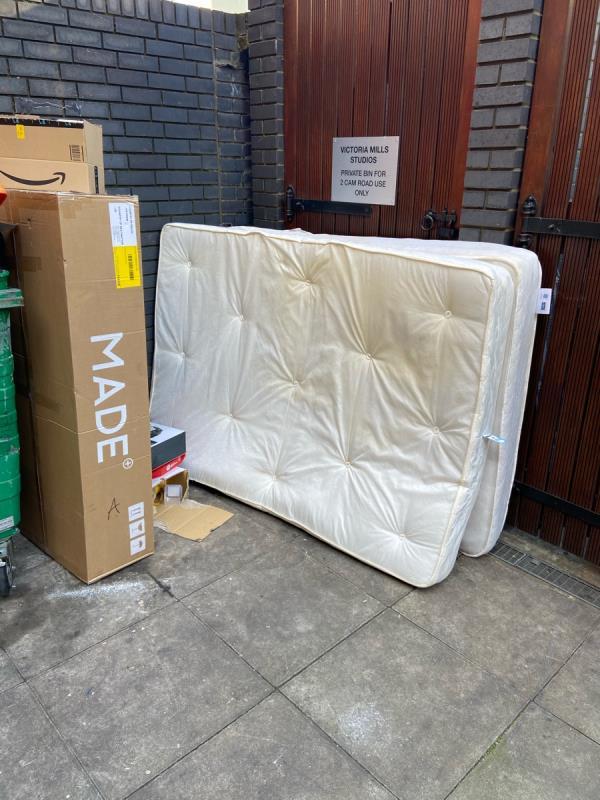 Dumped mattresses -Burford Wharf Apts, 3 Cam Rd, London E15 2SQ, UK