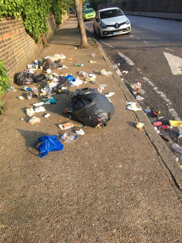 Fly tipping domestic waste again. -212 Osborne Road, London, E7 0PR