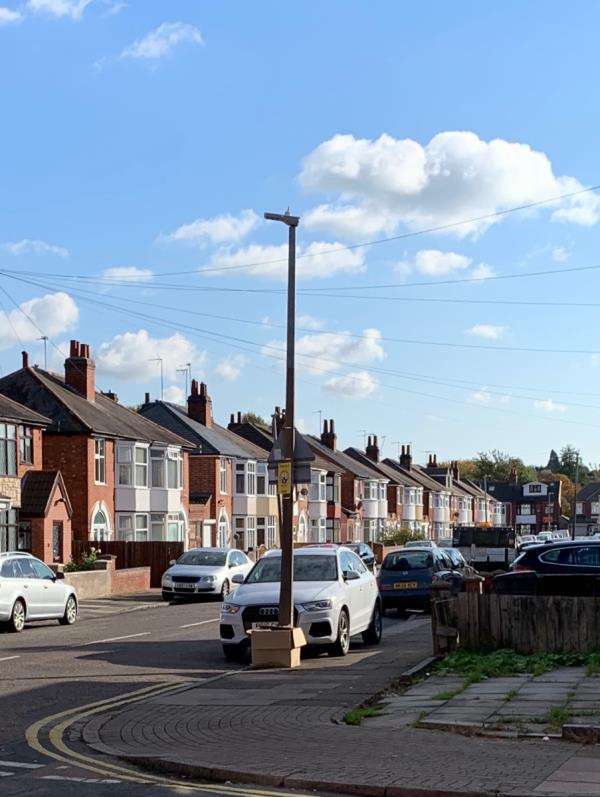 Box full of junk left on Hazelwood Rd corner-3 Hazelwood Rd, Leicester LE5 5HR, UK