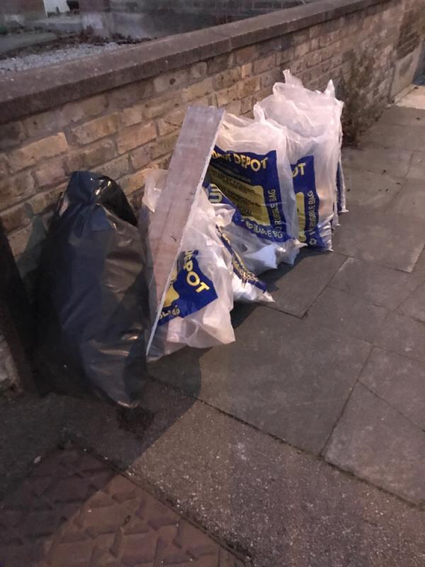 Boveney rd jn Devonshire rd bags of plasterboard -226a Devonshire Road, London, SE23 3TQ