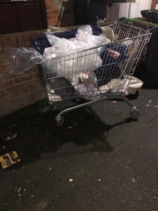 Dumped trolley-2a Salisbury Road, Reading, RG30 1BH