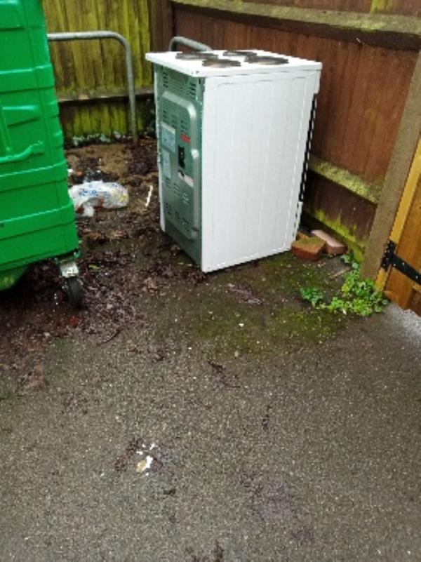 fly tipping bin store rear if 31 Dwyer road-31 Dwyer Road, Reading, RG30 3PB