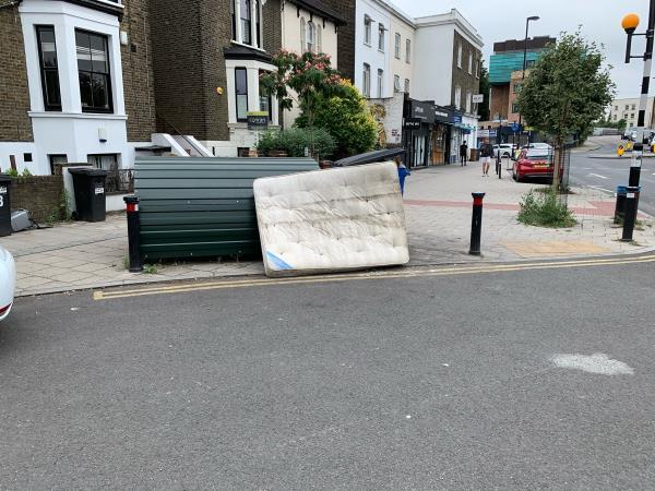 Dumped mattress -4 Geoffrey Road, Honor Oak Park, SE4 2AB