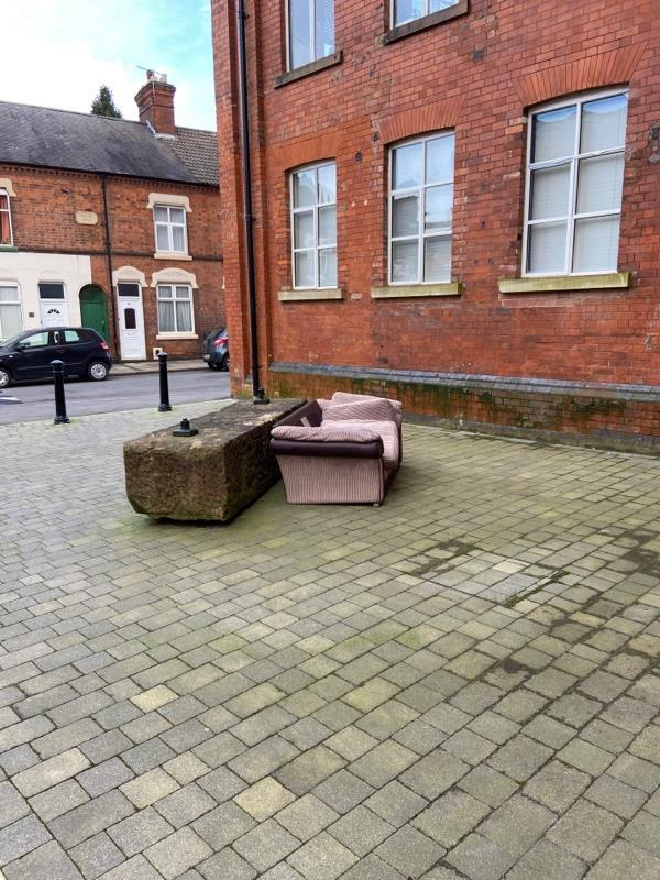 Fly tipped sofa-12 Wheatsheaf Way, Leicester, LE2 6EY
