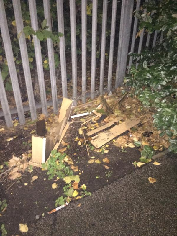 Cupboards next to pavement not yet removed p-Arch 20f Cranberry Lane, Canning Town, E16 4BJ