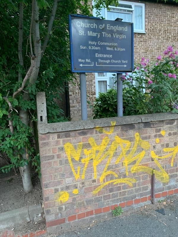 Offensive graffiti -11 St Mary's Road, London, E13 9AE