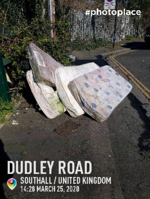 Dumped Mattresses -1 Spencer Street, London, UB2 5AT