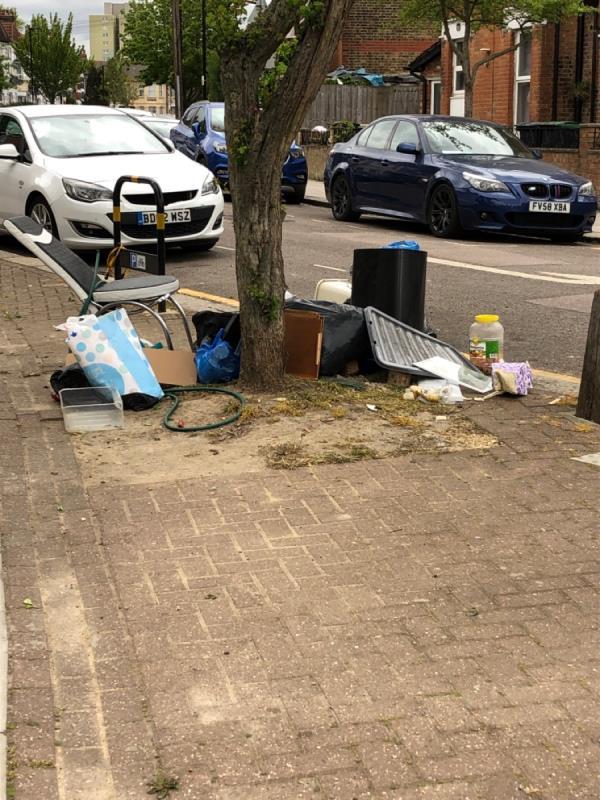 Dumped rubbish -69 Mount Pleasant Road, Tottenham, N17 6TW