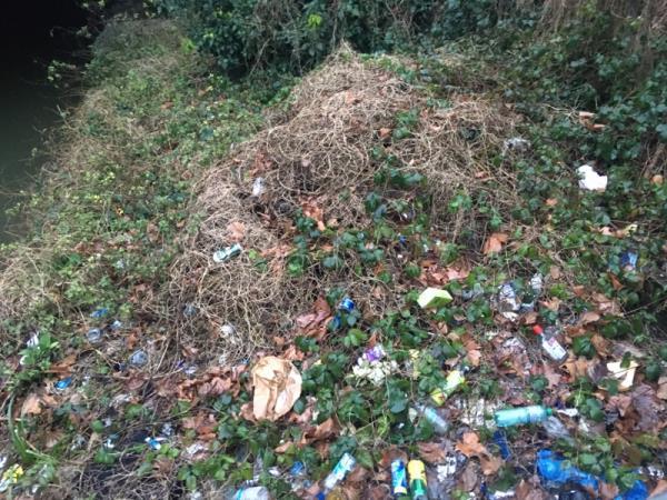 Rubbish at junction of Hornsey high street and Tottenham Lane -Bank Chambers, 120 High Street, London, N8 9DJ