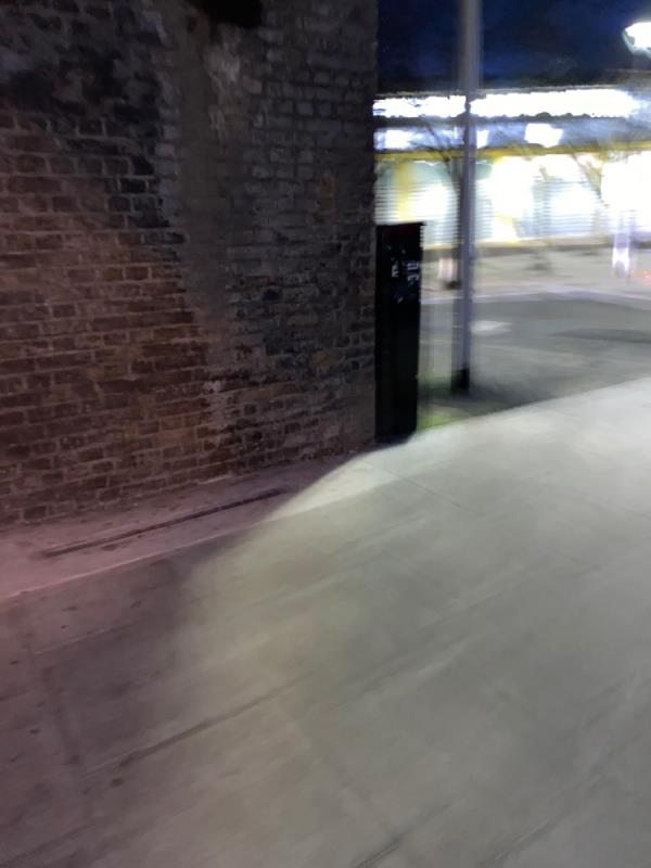Strip lights under bridges are not working. Haven't been for nearly a year. -90 Woodgrange Road, London, E7 0EW