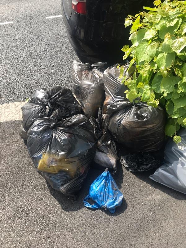 Rubbish outside number 9 and 11 Bartle Avenue -30 Bartle Ave, East Ham, London E6 3AJ, UK