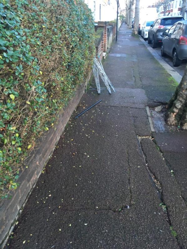 Airer dumped -49 Springfield Road, London, E6 2AH