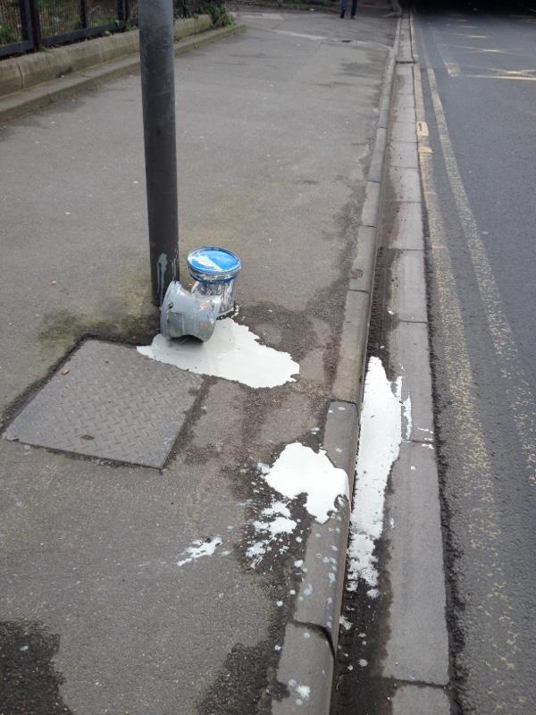 Paint spillage -65 Caversham Road, Reading, RG1 8JG