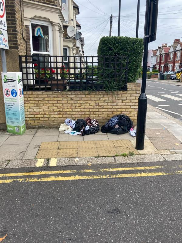 Black bags -130 Shelbourne Road, Tottenham, N17 9XY