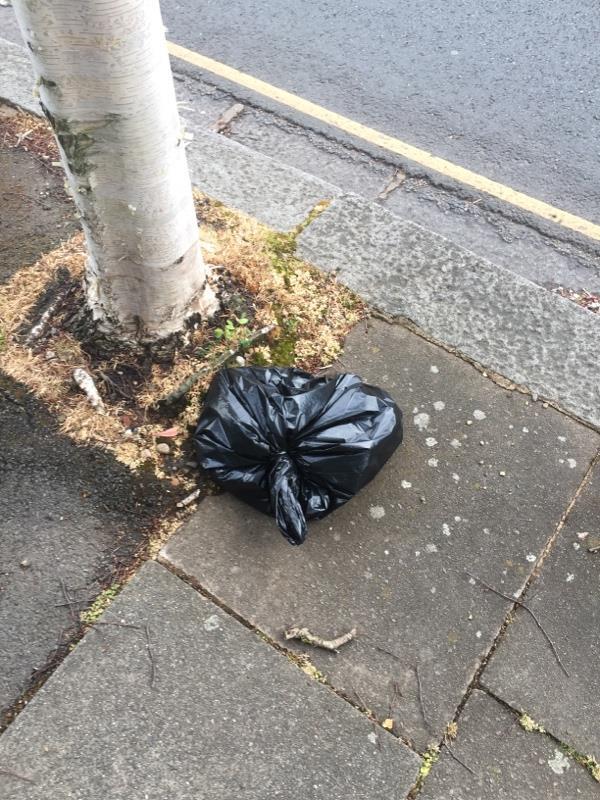 Dumped black bag-102 Corringway, Ealing, W5 3HA
