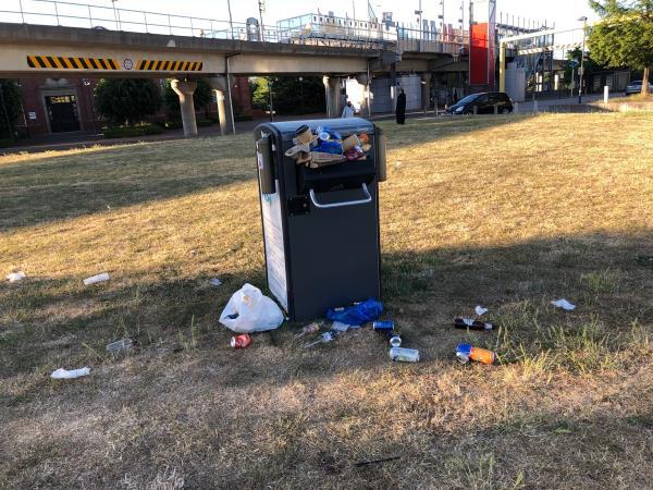 Overloaded litter bin  image 2-The Compressor House, 1020 Dockside Road, London, E16 2QD