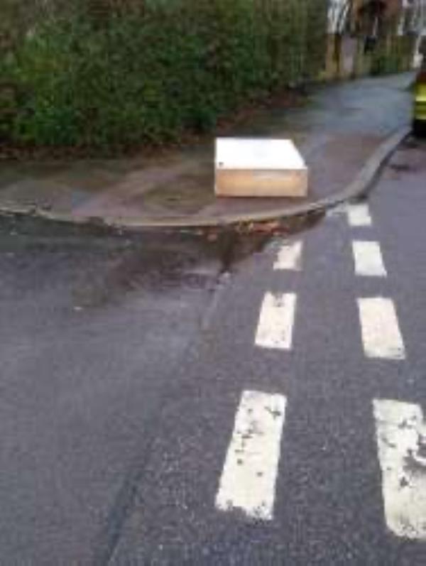 Junction of St Margaret's Road. Please clear flytip-212 Tressillian Road, Honor Oak Park, SE4 1YL