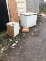 Rubbish dumped  image 1-34 Newbolt Road, Bilston, WV14 7NP