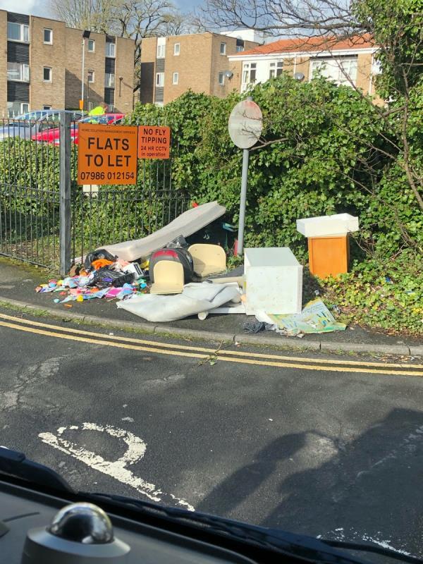 Flying tipping on Graiseley Lane, Wolverhampton -11b New Heath Close, Wolverhampton, WV11 1XX