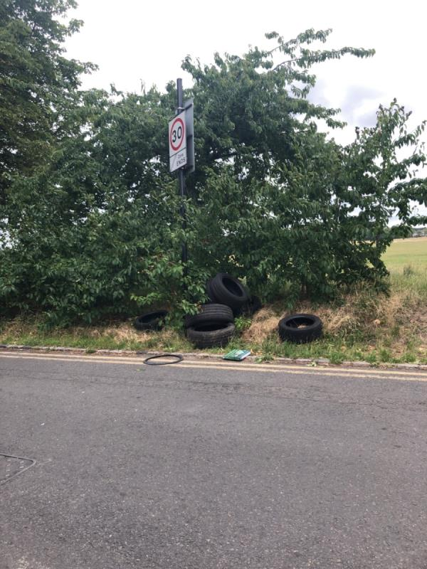 Tyres dumped -97 Capel Road, London, E7 0JU
