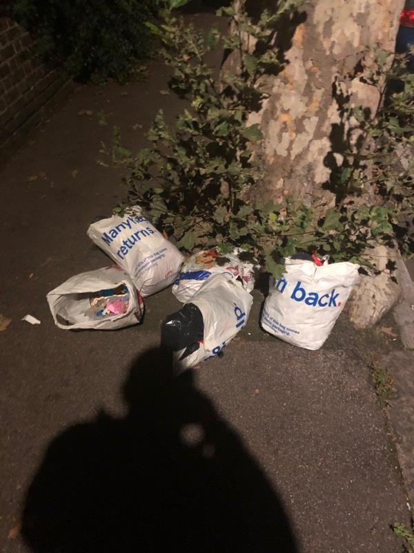 Rubbish dumped -59 Montpelier Gardens, London, E6 3JE