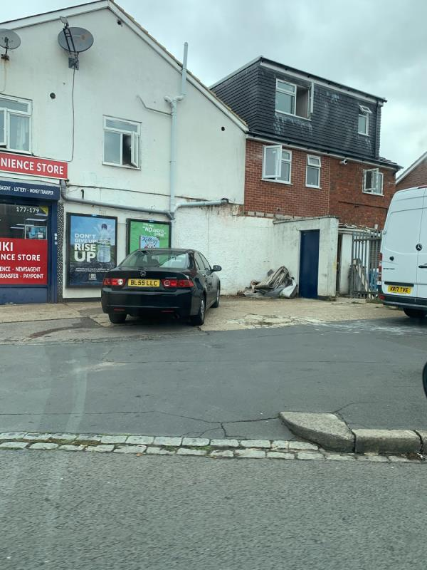 Dumped rubbish from the shop which has been out there for 3 weeks-177 Whitley Wood Lane, Reading, RG2 8PW