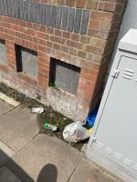 Mattress, bed base, headboard, bike frame and bag of litter  image 2-357 Allenby Road, London, UB1 2HE