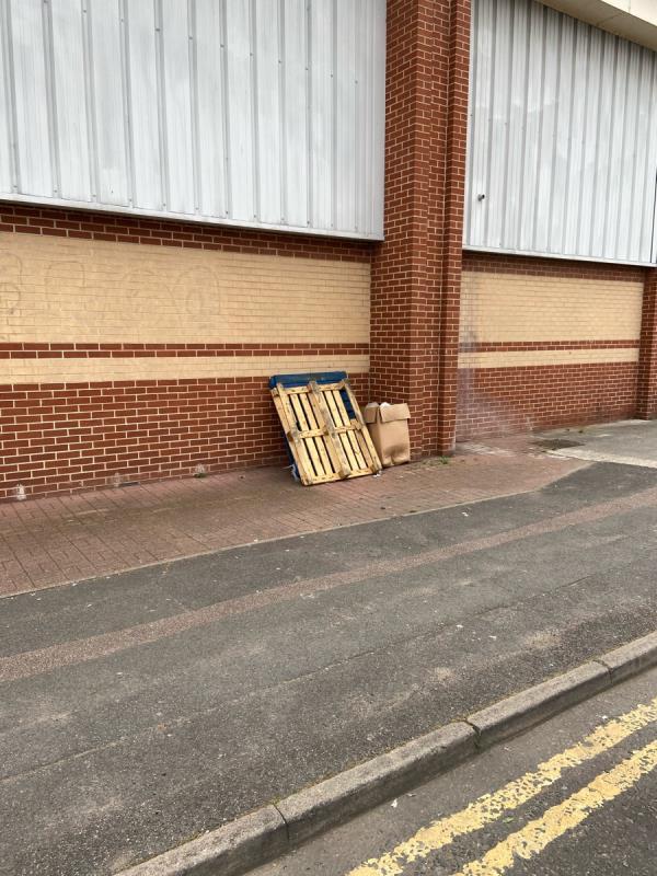 Dumped pallets. -3-4 Burford Road, London, E15 4QZ
