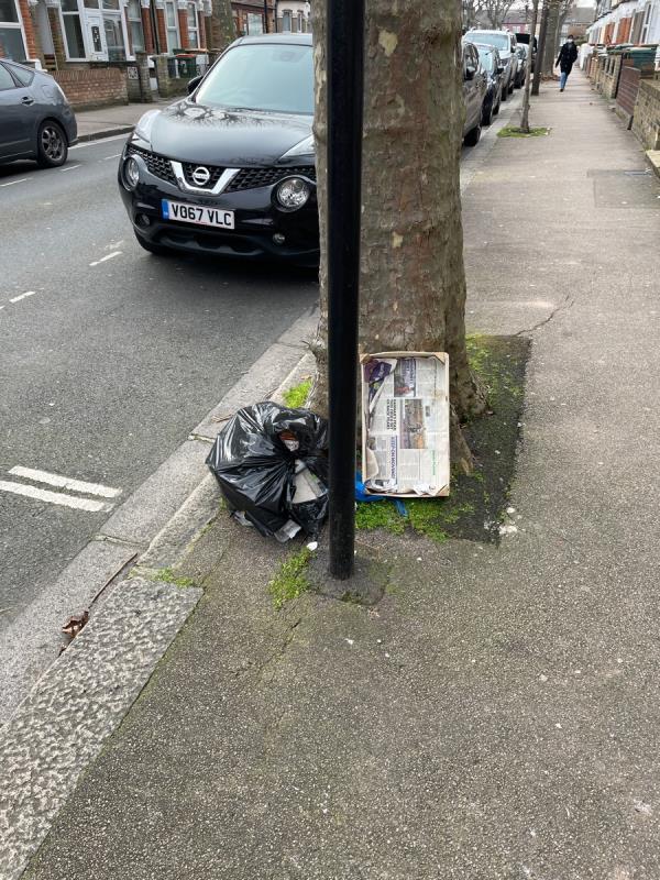 Bing bag and other ribbish-18 Hollington Road, East Ham, E6 3QL