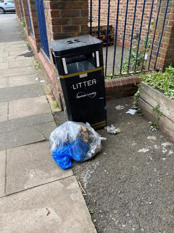 Now constant dumping of rubbish under the bridge on strode road. Please clean it up and remove the unnecessary bin which just causes more litter! -Railway Arches 381 To 383 Strode Road, London, E7 0AB