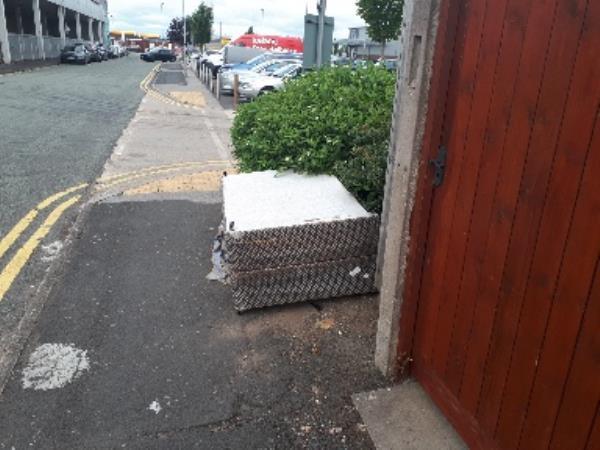 bed base dumped on footpath Howard street. -125 Raby Street, Wolverhampton, WV2 3LQ