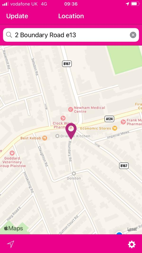 Reporting 3rd time. Carpet rolls on top of Boundary road, opposite bus stop R.  also chest of drawers further up the wall. All on the side of the Prudential building image 2-2 Central Park Road, Plaistow, E6 3DY