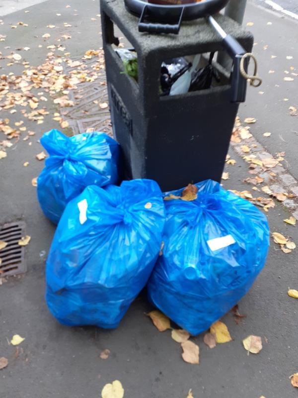 Three bags of litter left by volunteer litter picker, Thanks -31 Middleton Street, Leicester, LE2 8LU