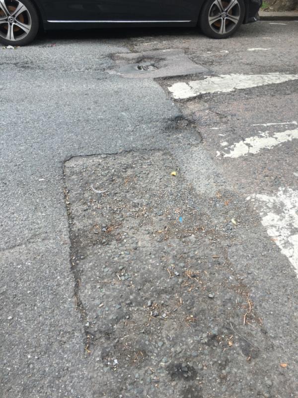 Massive pot hole-56 Salisbury Road, Manor Park, E12 6AB