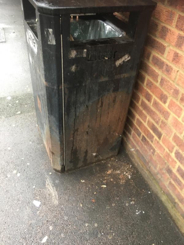 Bin has had fire damaged -218 Browning Road, Manor Park, E12 6NX