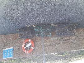 3 lobster pots at top of La Mare Slip, St. Clement Coast Road.-Public Toilet La Mare Slipway, La Grande Route de la Côte, St. Clement, Jersey,