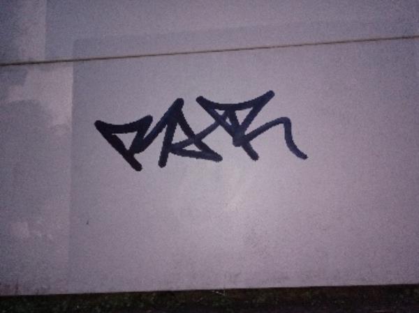 Graffiti on the sound barrier -40 Brook Street West, Reading, RG1 6BB