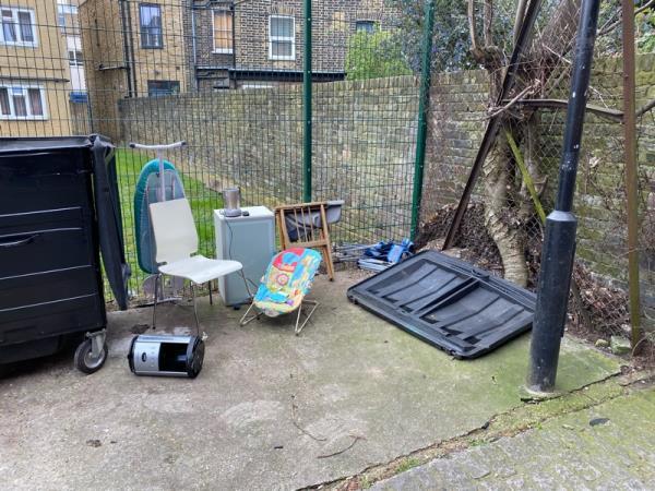 Trash left...-Academy Apartments Institute Place, London, E8 1LA