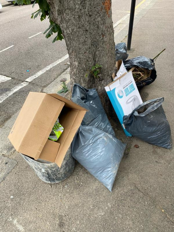 Fly topping waste with the address of 224 Masterman Road as per the image  image 1-220 Masterman Road, East Ham, E6 3NJ