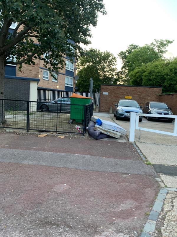 Mattresses dumped-9 Seymour Road, East Ham, E6 1PX