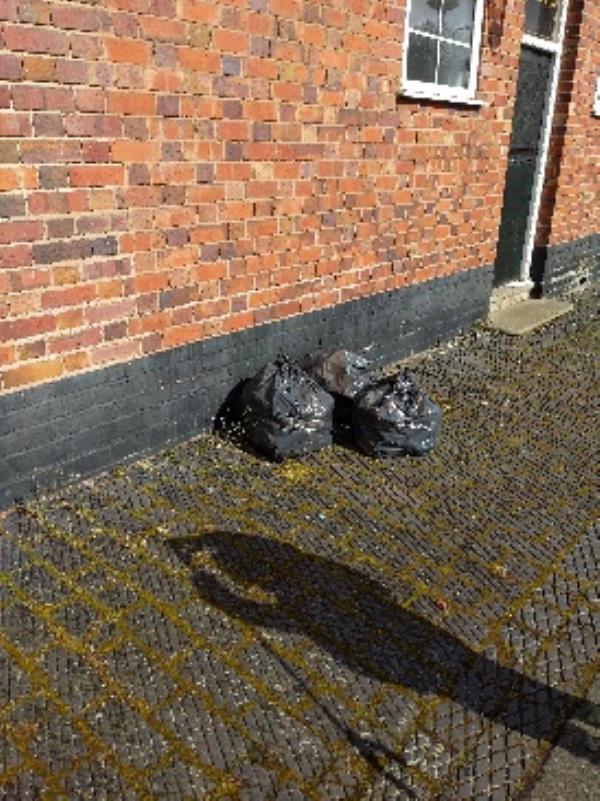 fly tipping - 3 black bags-121 Bruford Road, Wolverhampton, WV3 0AZ