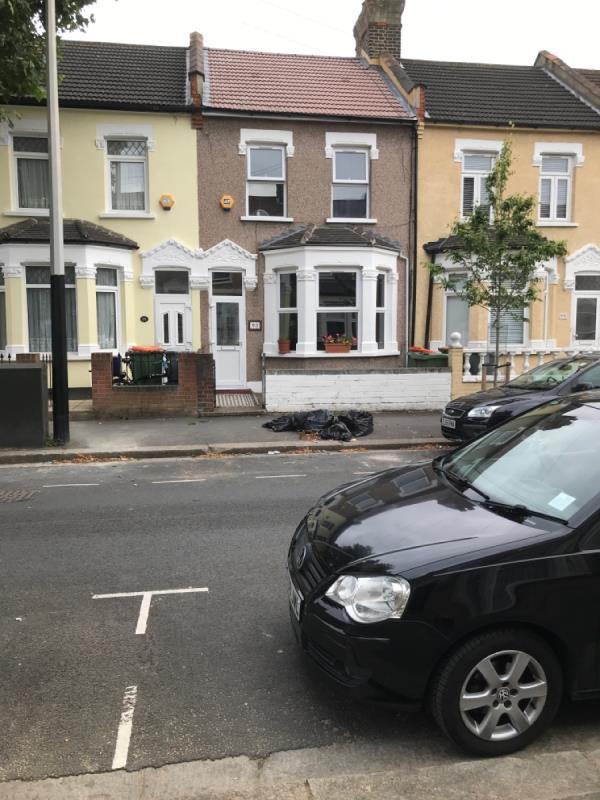 Black bags of waste-93 Masterman Road, East Ham, E6 3NW