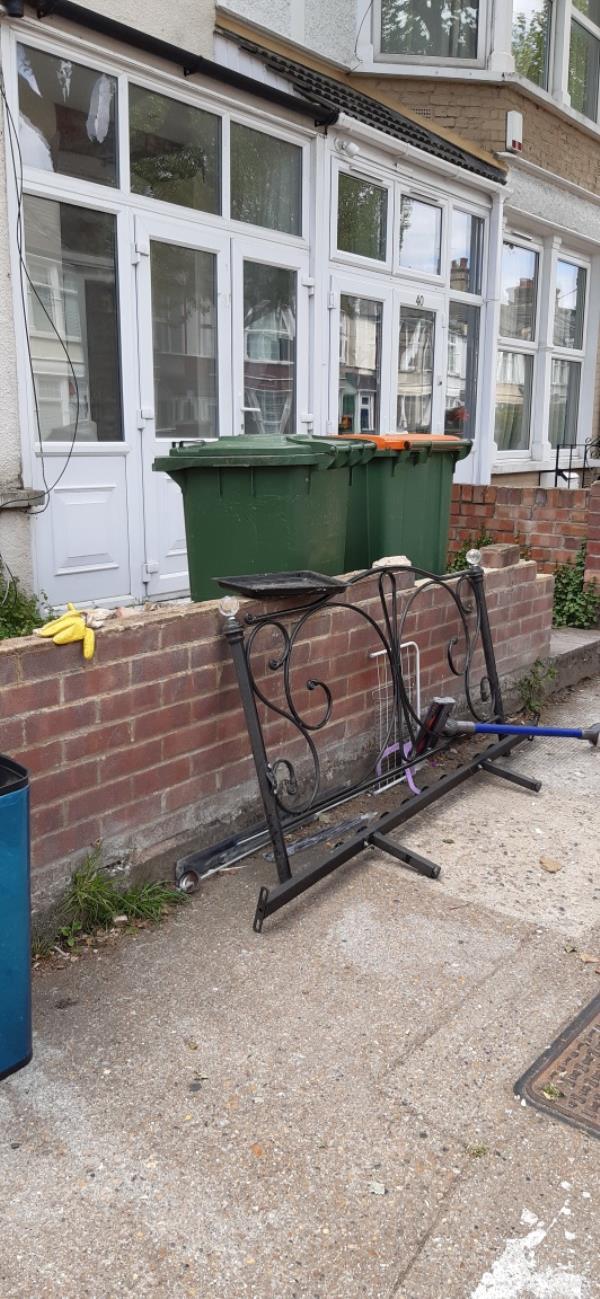 Dumped metal work no 42 henniker gardens-52 Henniker Gardens, East Ham, E6 3JG