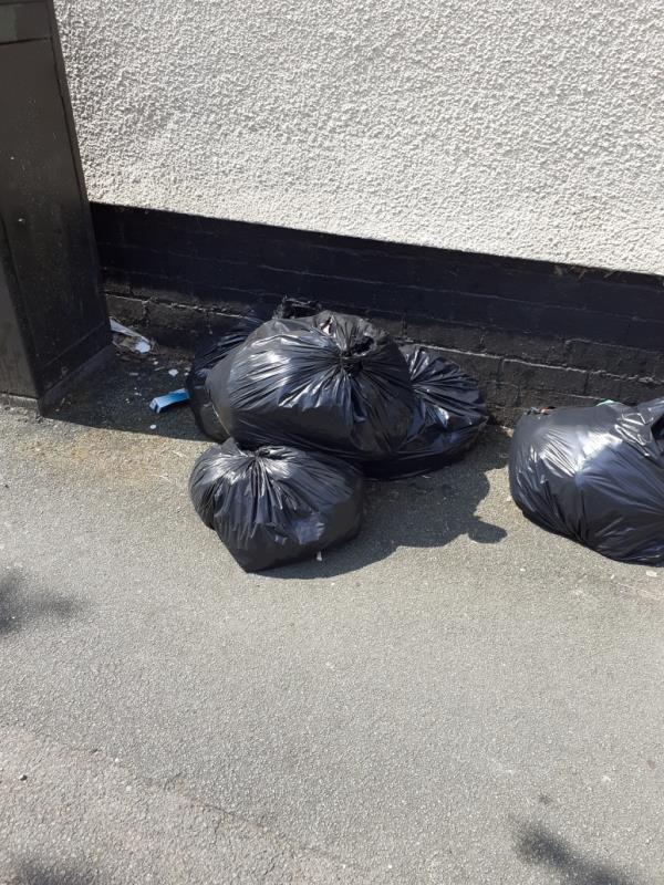 this rubbish has been left on corner of Bristol St lea Rd end.-71 Owen Road, Wolverhampton, WV3 0AL