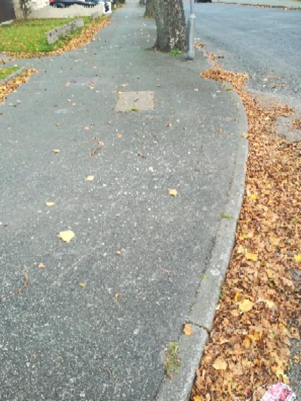 Adj. To no 90 fifth avenue broken glass on pavement -97 Fifth Avenue, Wolverhampton, WV10 9SZ