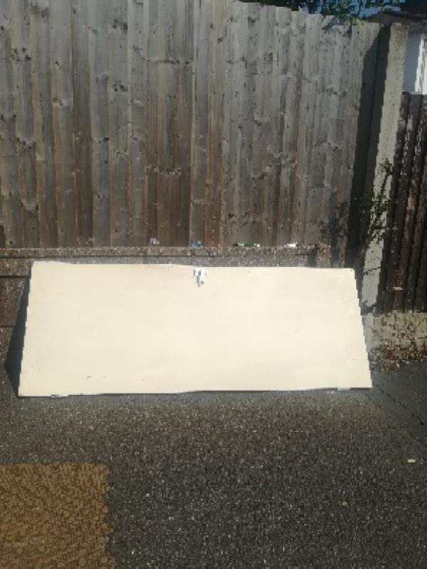 Door flytipped on pavement. -1 Selwyn Road, Bilston, WV14 6NW