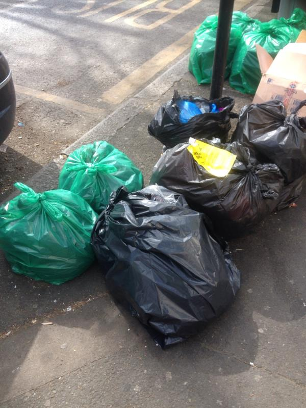 Bags of waste, fine given to culprit-545b Barking Road, Plaistow, E13 9EZ
